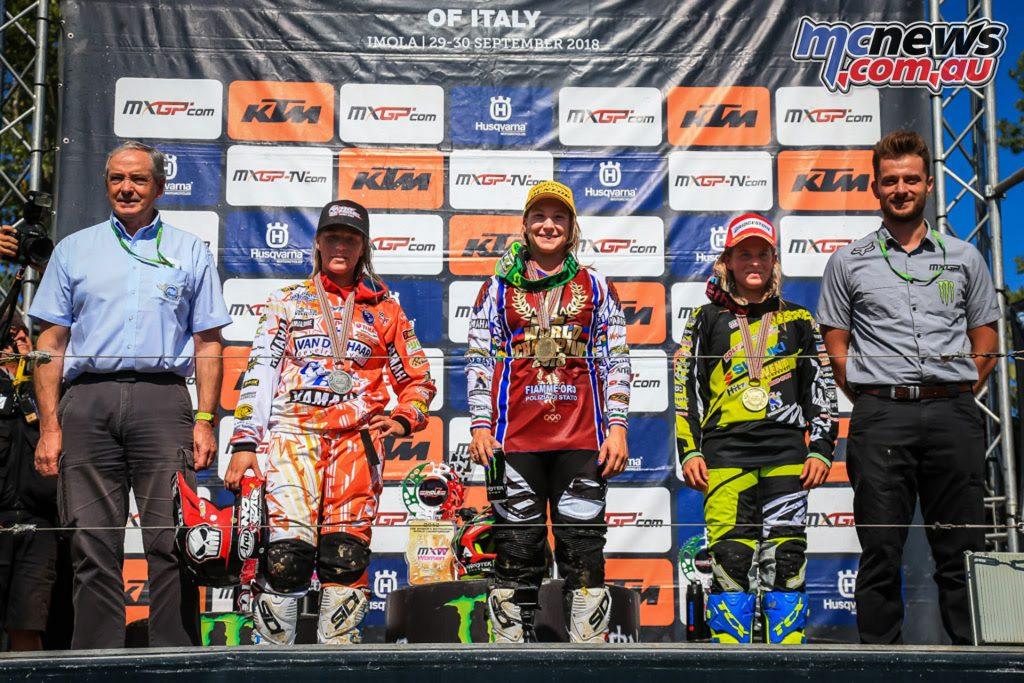 MXGP Rnd Italy WMX Podium