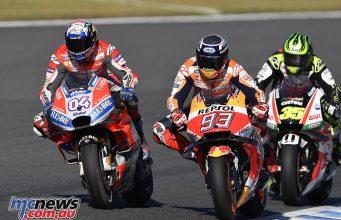 MotoGP Japan Sun Dovizioso Marquez Crutchlow