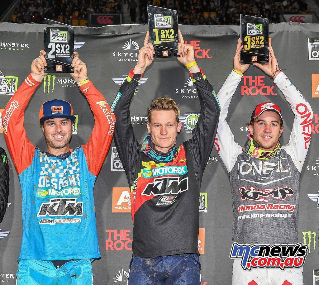 AUS X Open International Supercross FIM Oceania Championship SX Dakota Alix Ryan Marmont Podium