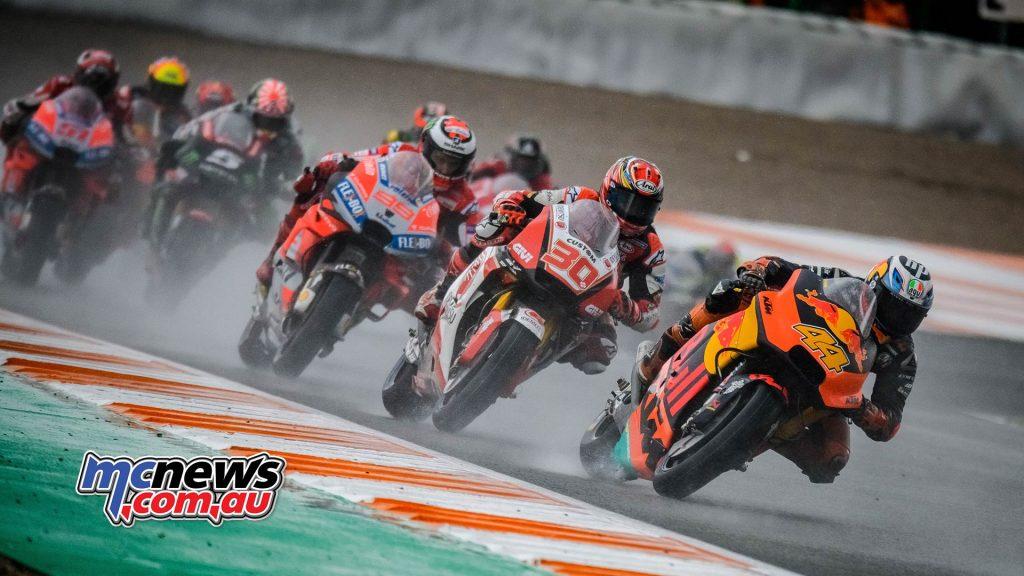 MotoGP Valencia Start Sparrow Nakagami Lorenzo