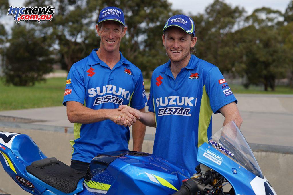 Alex Phillis Wayne Maxwell Team Suzuki Ecstar