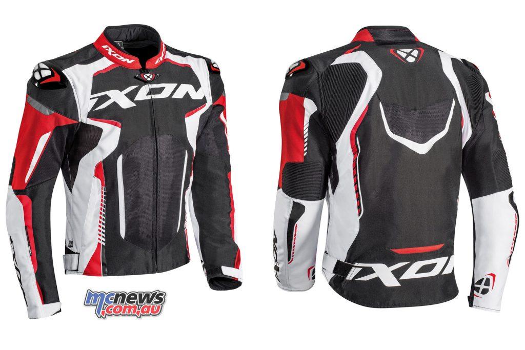 Ixon Gyre Jacket noir blanc rouge face