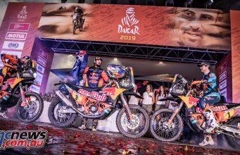 Dakar Rally RedBull KTM Factory Racing podium ImgMarcinKin