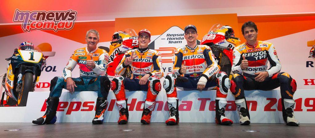 MotoGP Repsol HRC Launch Jorge Lorenzo Marquez Doohan Criville