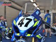 ASBK Testing SB Phillip Island Rob Mott Wayne MAXWELL Bike Josh Waters in Background