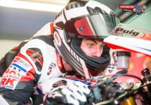 Aiden Wagner gets a feel for the Team Honda Racing CBR 1000 RR Fireblade SP