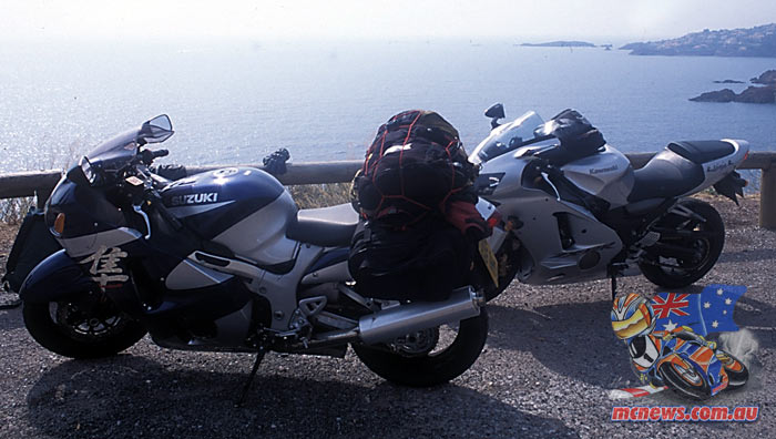 Five countries with a Kawasaki ZX-12R and Suzuki GSX1300R