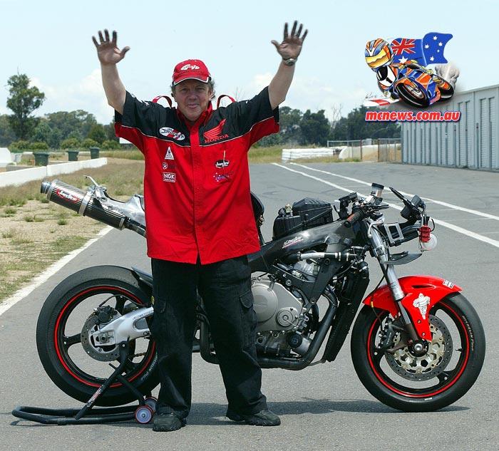 Team Honda technician Gary House