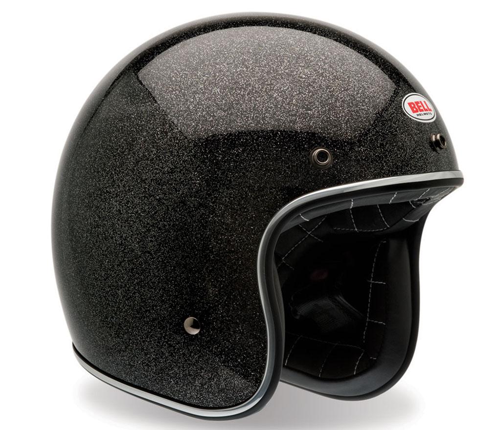 Bell-Custom-500-open-face-Black-metal-flake