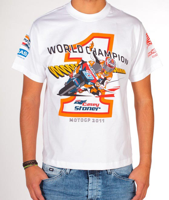 Celebrate Motogp With A Casey Stoner World Champion T Shirt Motorcycle News Sport And Reviews