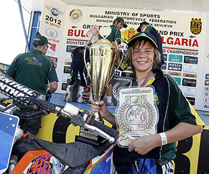 Caleb Grothues was World Champion in 2012