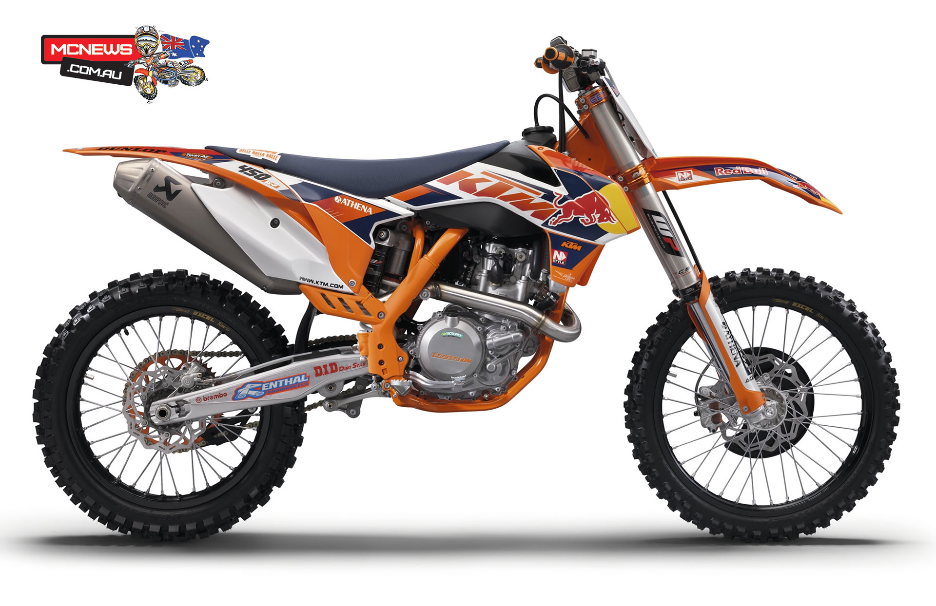 Comes with everything but a serviette to mop up the drool... KTM Dealers are currently taking orders for this homologation special, the 450SX-F Factory Edition, as ridden by Ryan Dungey and Ken Roczen. They are expected to go fast, so get your order in.