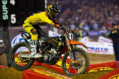 AMA SX 2014 Rnd One 250 winner Jason Anderson