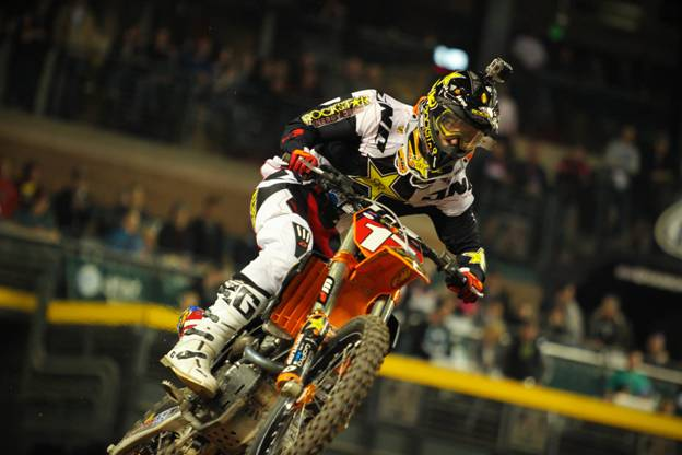 Anderson won three of his last four 250SX Class Main Events Photo Credit: Michael Bartovsky