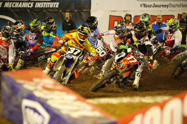 Webb pulled the first Nuclear Cowboyz Holeshot Award of his career Photo Credit: Michael Bartovsky