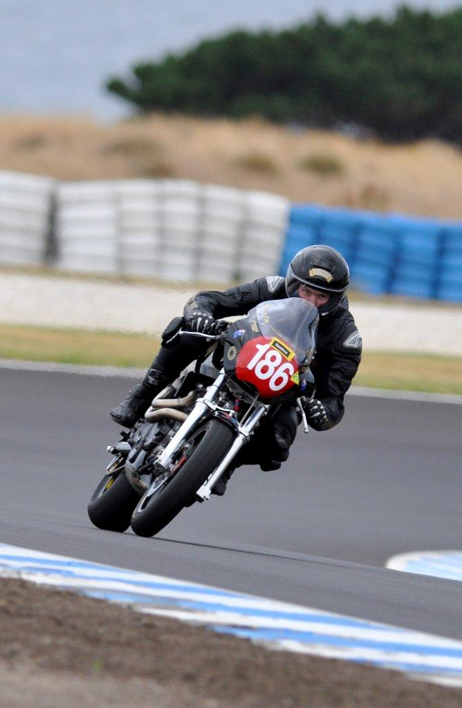 Beau Beaton on the Irving Vincent at Phillip Island