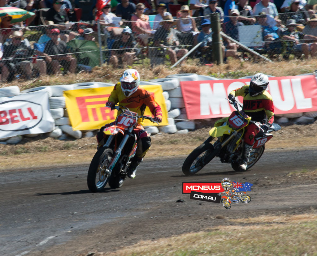 Shawn Giles (Suzuki) was right on Crump's tail in many of the heats.