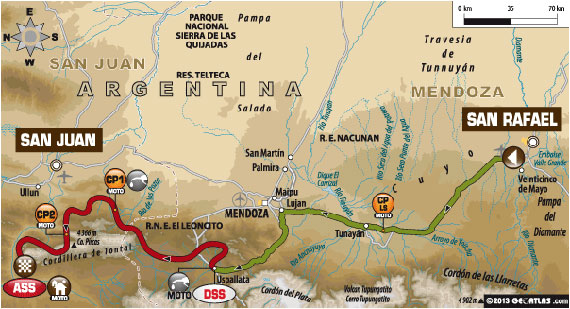 Dakar 2014 Stage Three Map