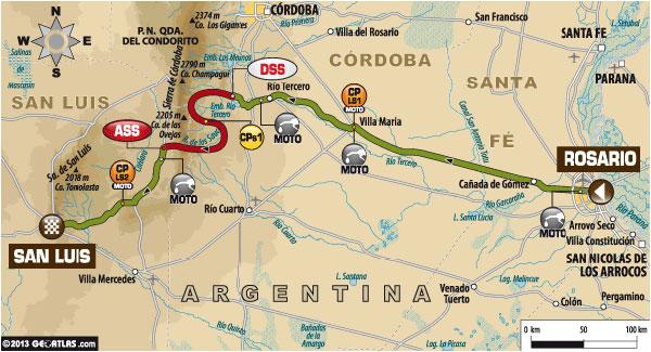 Dakar 2014 Stage One Map