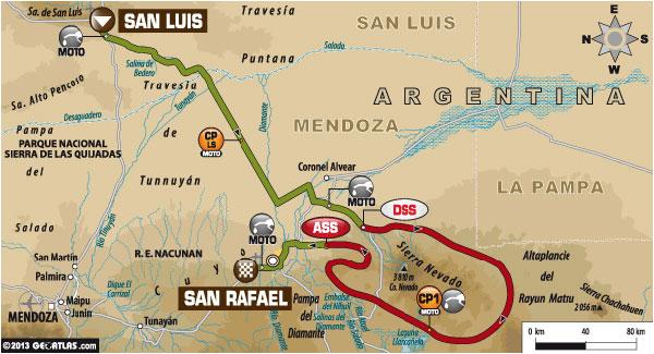 Dakar 2014 Stage Two Map