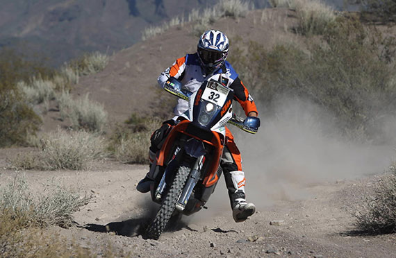 Ben Grabham pictured on day two of Dakar 2014