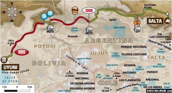 Dakar 2014 - Stage 7 Map