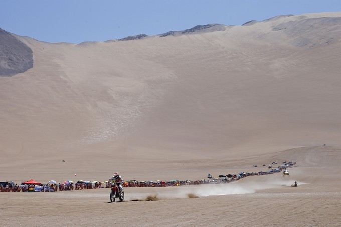 """""""A very complicated stage today. I tried to push from the beginning upping the pace as much as possible, but Marc [Com[Coma]ght really hard and caught up with me in the dunes. I could do no more. There are two really tough days still awaiting us, but we are going to continue following the same line. Tomorrow I'll be opening the way again. I'm very pleased with the job done."""""""