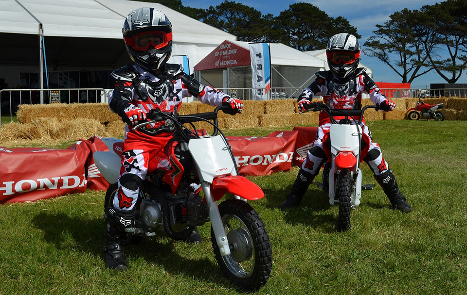Children aged between six and ten years old will be offered the chance to throw a leg over Honda's CRF50F and learn the basics of motorcycle riding.