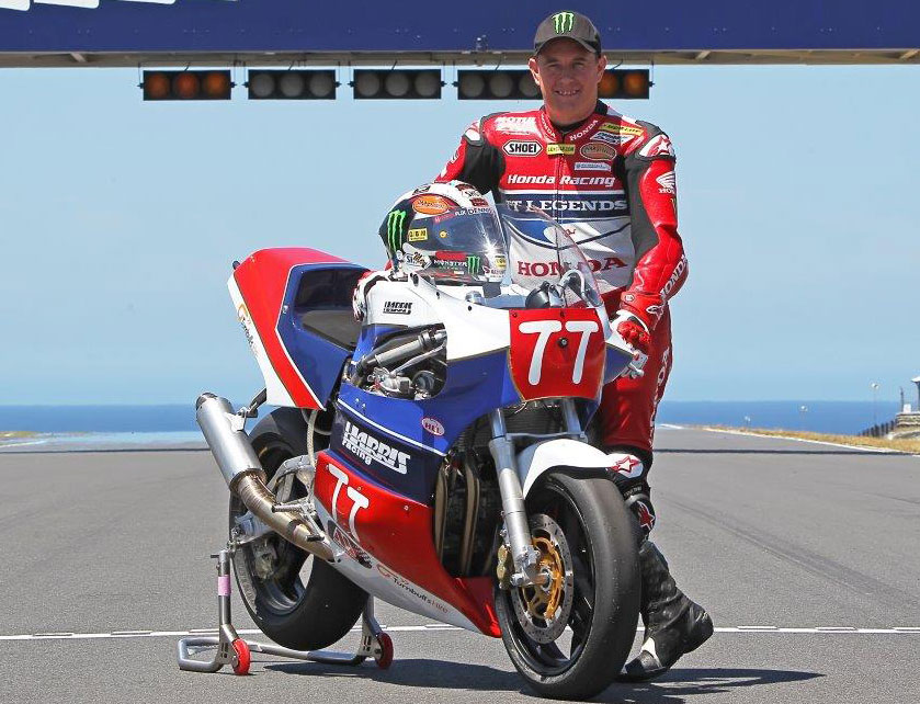"""John McGuinness, """"I've only been in the country for a day and already I've got sunburn on my head,"""" said McGuinness. """"But it's great to be back in Australia for the first time in many years, and I just love the old-school nature of the Phillip Island circuit – not like a lot of the rubbish start-stop circuits that are being made today."""""""