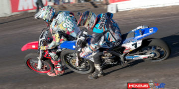 Mick Kirkness and Sammy Halbert at the 2014 Troy Bayliss Classic