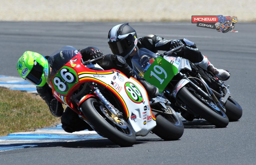 Cam Donald leads Shawn Giles at Island Classic 2014 International Challenge Race Three