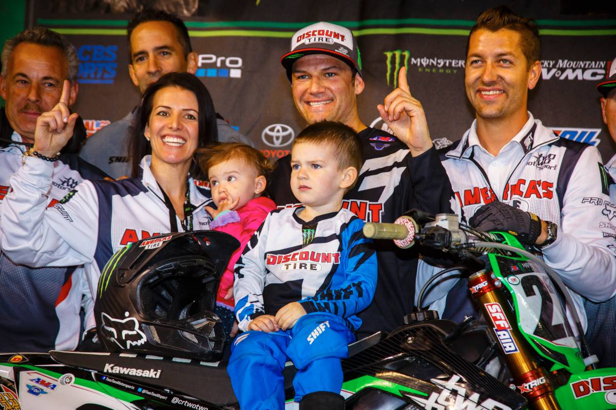 """41 wins have come easy, but 42? That one was sweet,"" said Reed. ""This was a long time coming and its so gratifying. I'm really proud of our team and the work we've done in the offseason. The Kawasaki is proven. Ryan has dominated on it and I'm happy to now win on the KX™ and hope to continue to grow."""