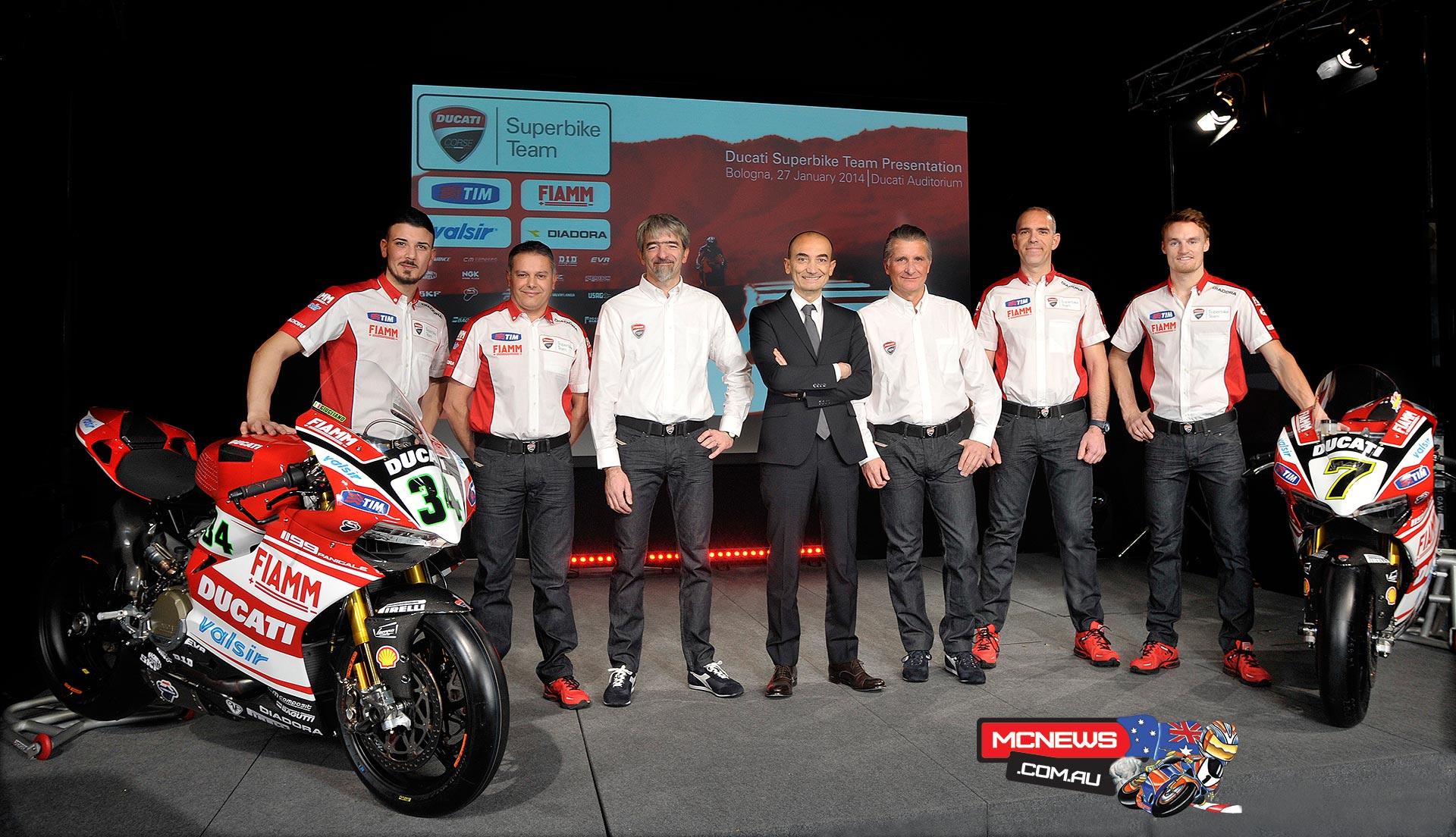 Team Ducati WSBK Presentation 2014