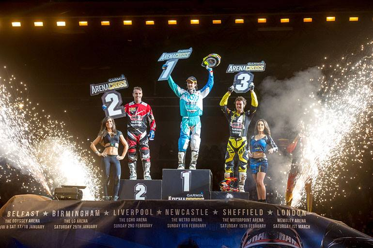 Speaking of busy and talented people, Daniel McCoy now sits in second place in the points after three rounds of the UK based Garmin Arenacross series with a solid second place last Saturday night in Birmingham. Unfortunately the other Aussie Luke Arbon didn't make it into the final. See the full report and results below. (Image from Arenacross UK on FB)