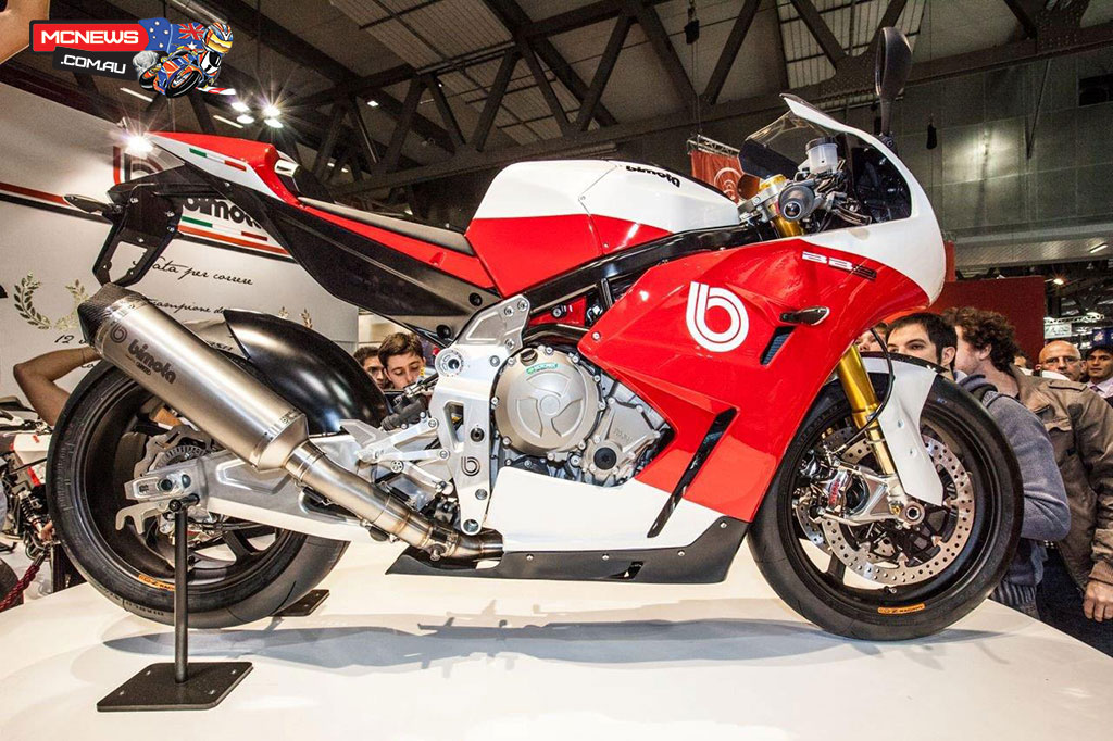 Subject to FIM homologation requirements, the 2014 Bimota campaign will see Iddon and Badovini on the BB3, which is powered by BMW's S 1000 RR four-cylinder engine mounted inside Bimota's ubiquitous steel trellis frame.