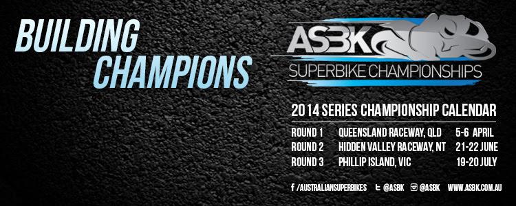 The earlier 2014 ASBK Calendar