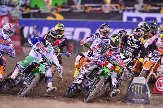 450SX Class Main Event Start – Anaheim Race 3 - Photo Credit: Steve Cox