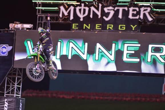 250SX Anaheim Race 3 Main Event winner, Dean Wilson - Photo Credit: Steve Cox