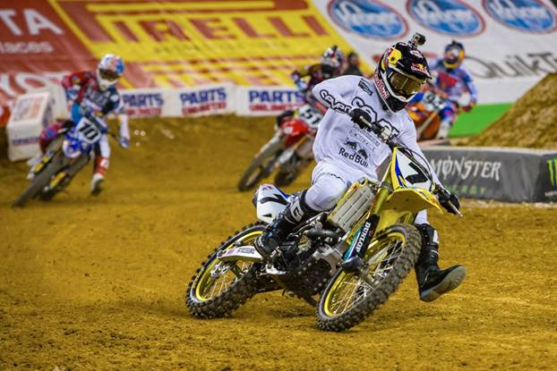 450SX Class Arlington race winner, James Stewart - Photo Credit: Hoppenworld