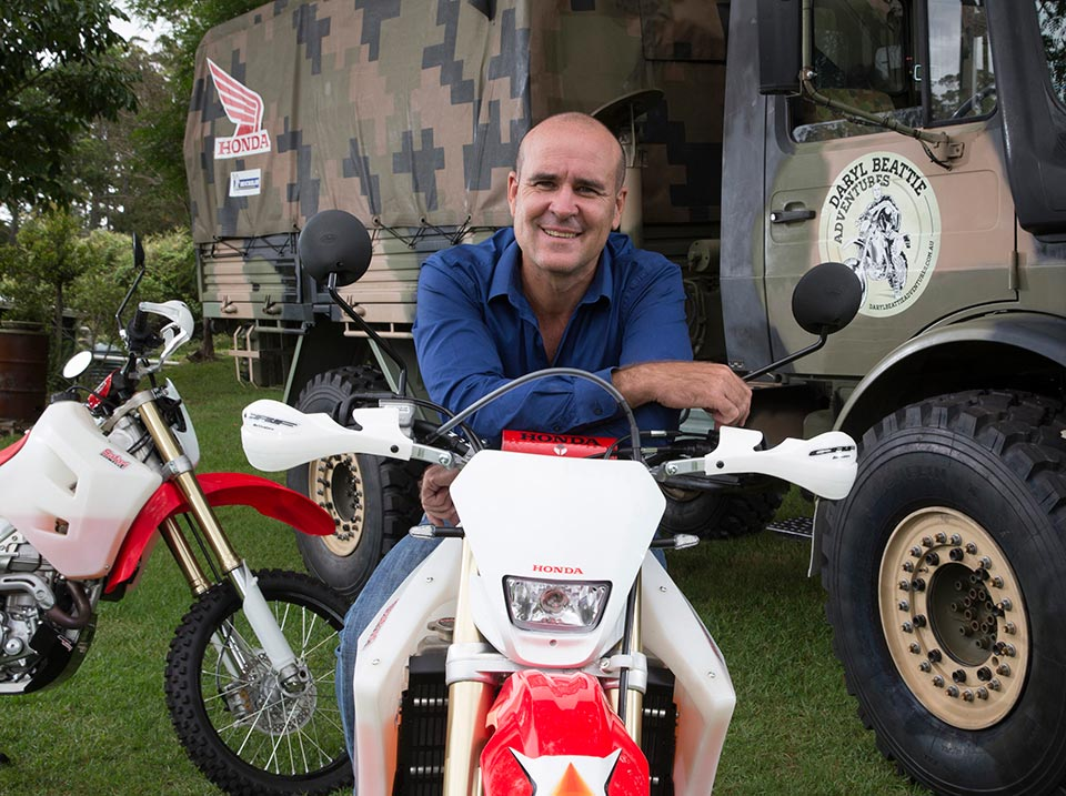 Daryl Beattie these days, along with his Network Ten commitments, runs Daryl Beattie Adventure Tours
