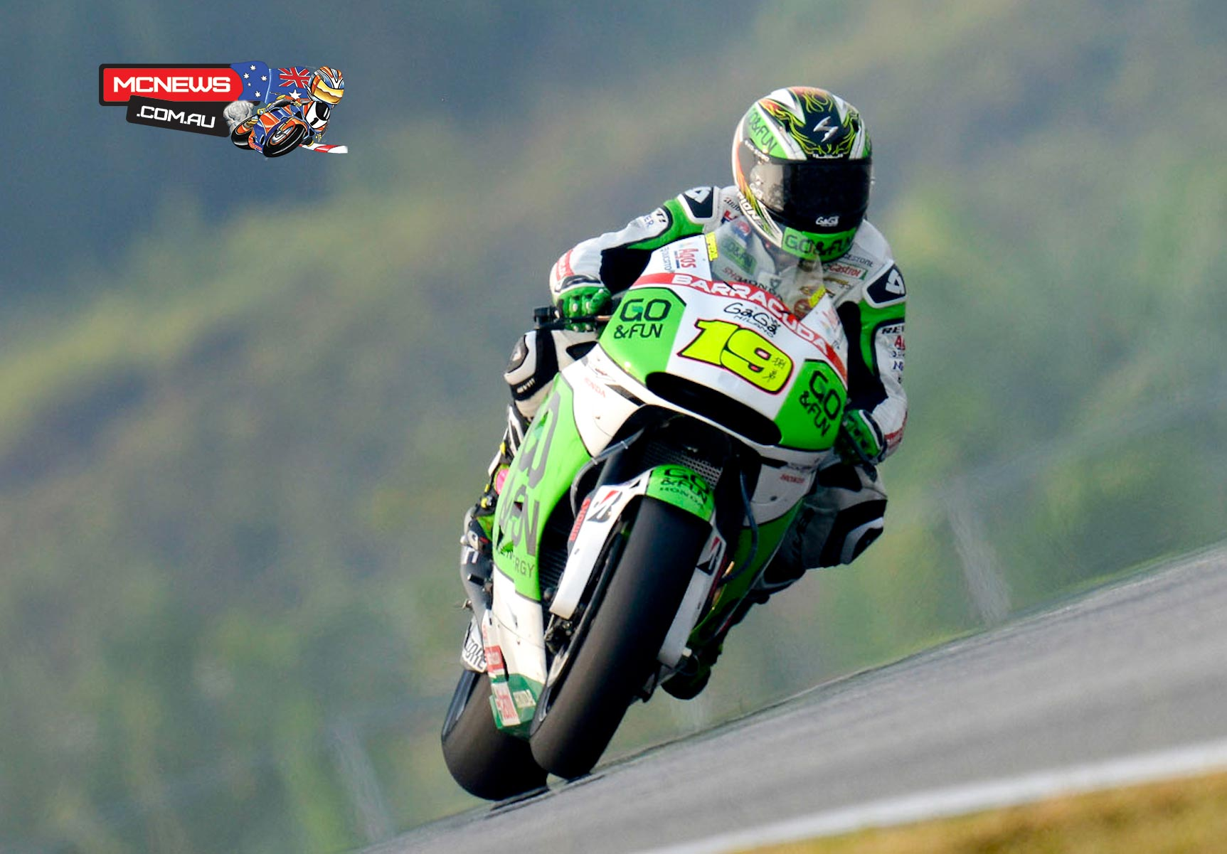 "Alvaro Bautista (GO&FUN Honda Gresini): 1st, 2m 00.848s - ""It's been a very positive first day of testing! We worked very well on the rear end, an area that earlier this month gave us some problems. We have had excellent results thanks to Showa developing a new shock absorber, somewhat different compared to the one we've used so far, which is very suitable for our needs. In addition to the good lap times, even though the track was worse than the first test, I am especially pleased because my feeling with the new Bridgestone tyres has improved so much that now I feel comfortable when riding. We are on the right path: tomorrow morning we will continue to work hard, focusing also on the front end, while in the afternoon if we get the chance we would like to try a first long run."""