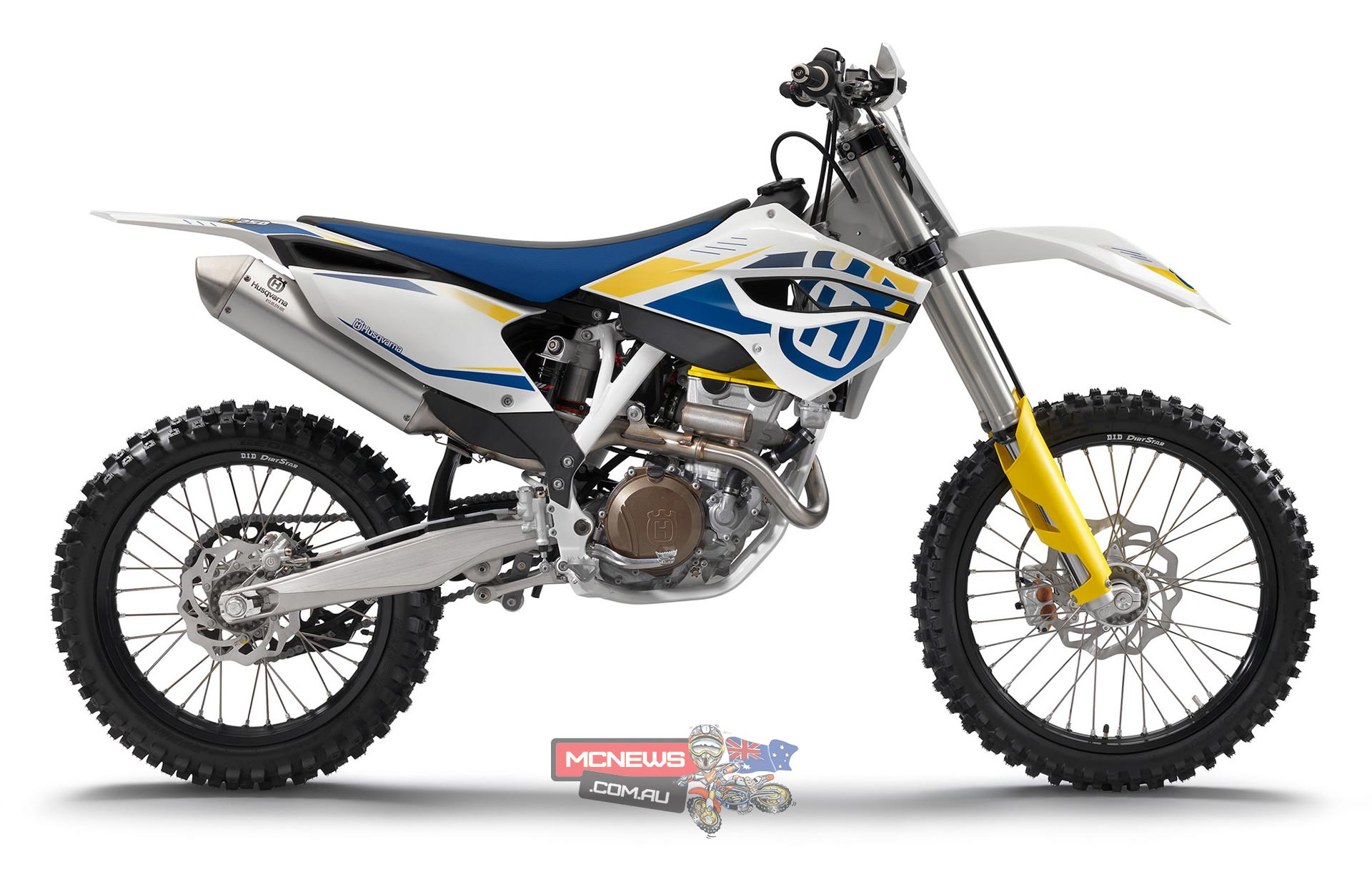 The global re-launch of Husqvarna motorcycles sees the brand revert to some famous and familiar livery. Here is the 2014 Husqvarna FC250