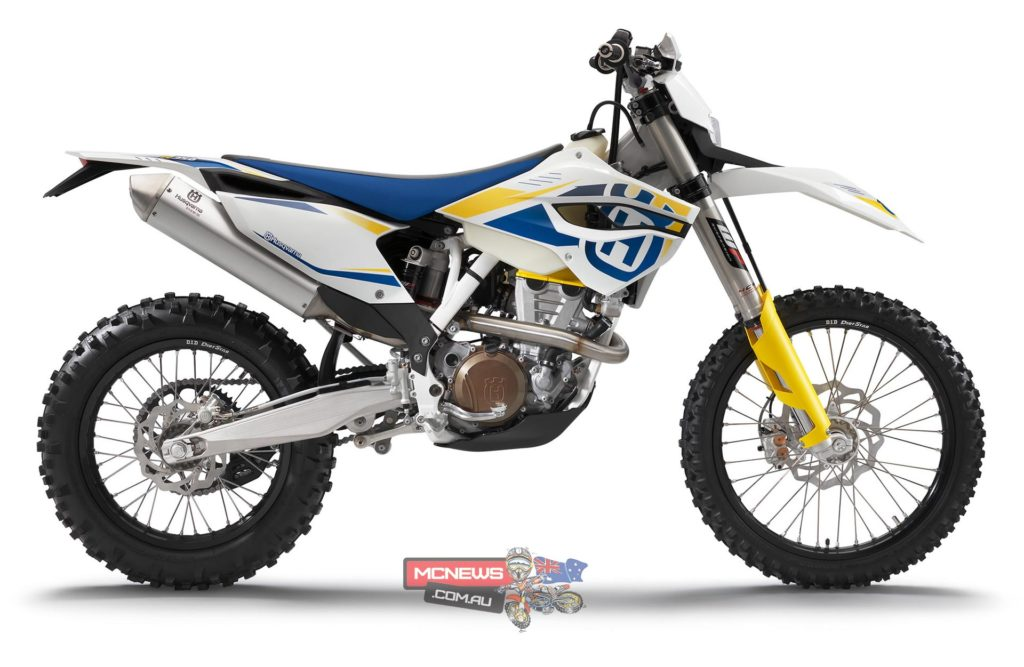 The global re-launch of Husqvarna motorcycles sees the brand revert to some famous and familiar livery. Here is the 2014 Husqvarna FE350