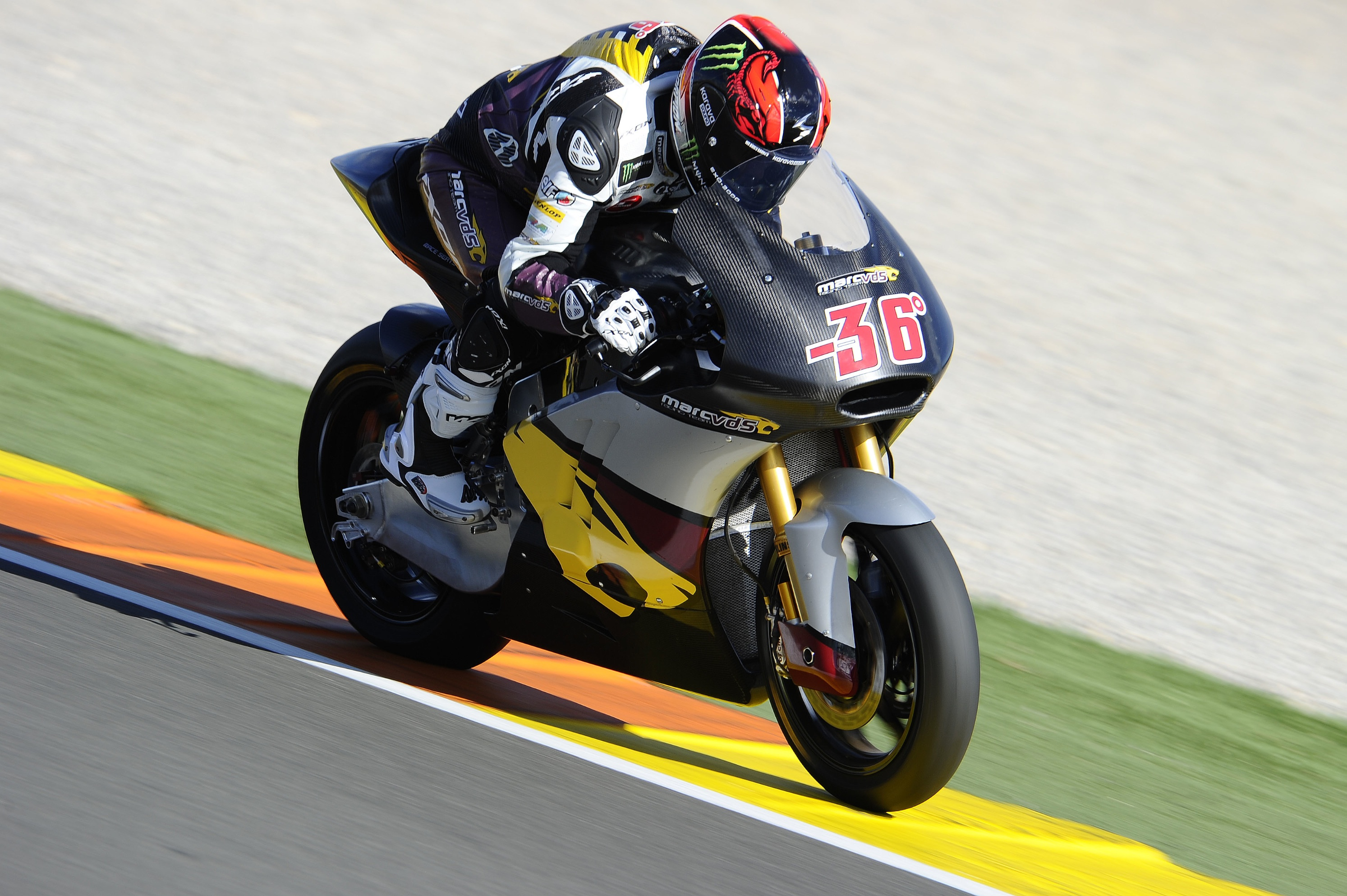 """Mika Kallio: 1st – 1'42.169 """"""""The first two days we confirmed the settings we tested in Valencia, keeping our preferred tyres for the race and qualifying simulations today. In the race simulation I was happy with my speed and consistency, with my best and worst laps separated by just half a second. In the qualifying simulation I finally had the feeling that was missing last year - the feeling of being on the limit. I knew I was on a fast lap, but it's always good to see it confirmed on timesheet, especially when your name is on the top! Okay, it's only testing, but it all builds confidence ahead of the first race"""