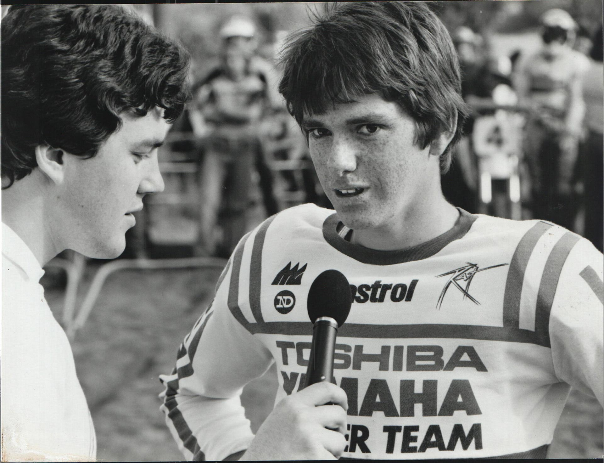 Neil Crompton and a young Jeff Leisk