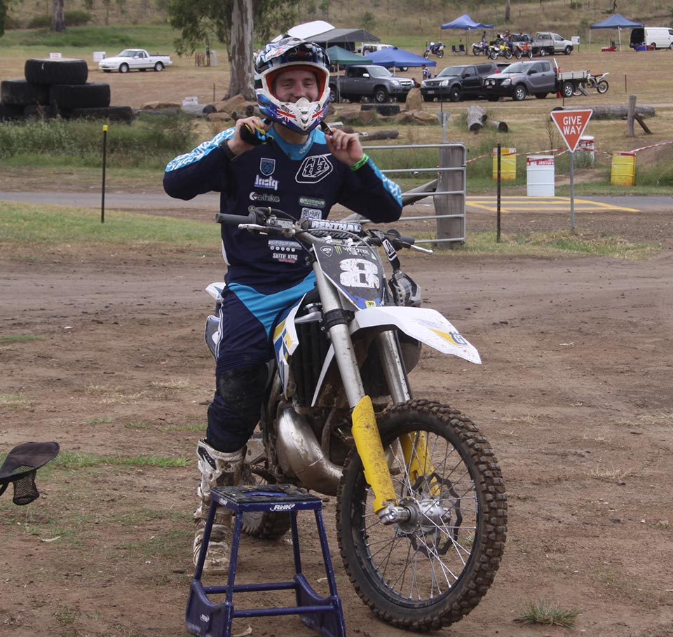 Nick Sutherland was at Queensland Moto Park last Saturday on the Husqvarna 250 2-stroke and was looking fast and fit. Sutherland is spreading his training time between testing with Craig Anderson in NSW and getting as much seat time as he can around South East Queensland and Northern NSW.