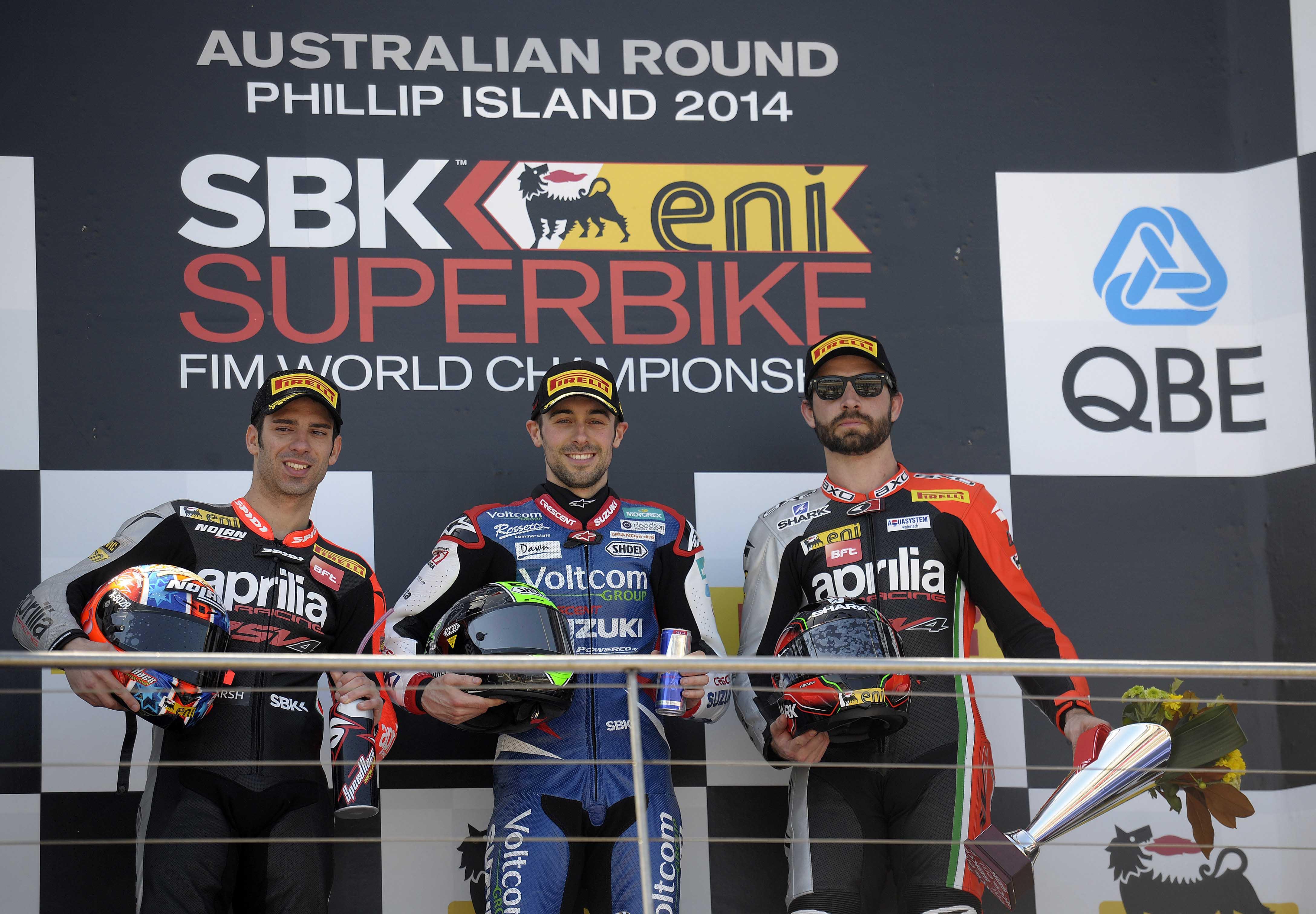 WSBK 2014 Race One Podium Phillip Island