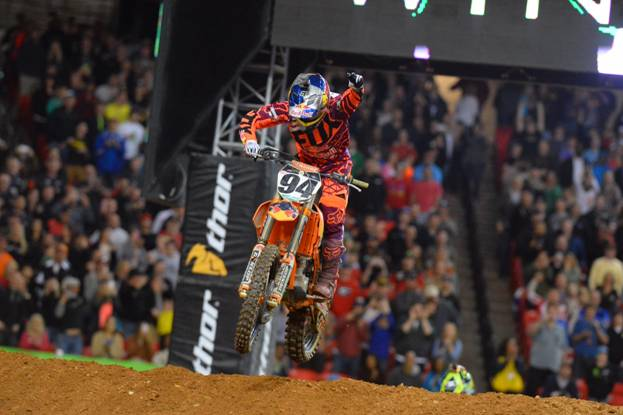 Roczen Wins the Second 450SX Class Race of his Career - Photo Credit: Simon Cudby