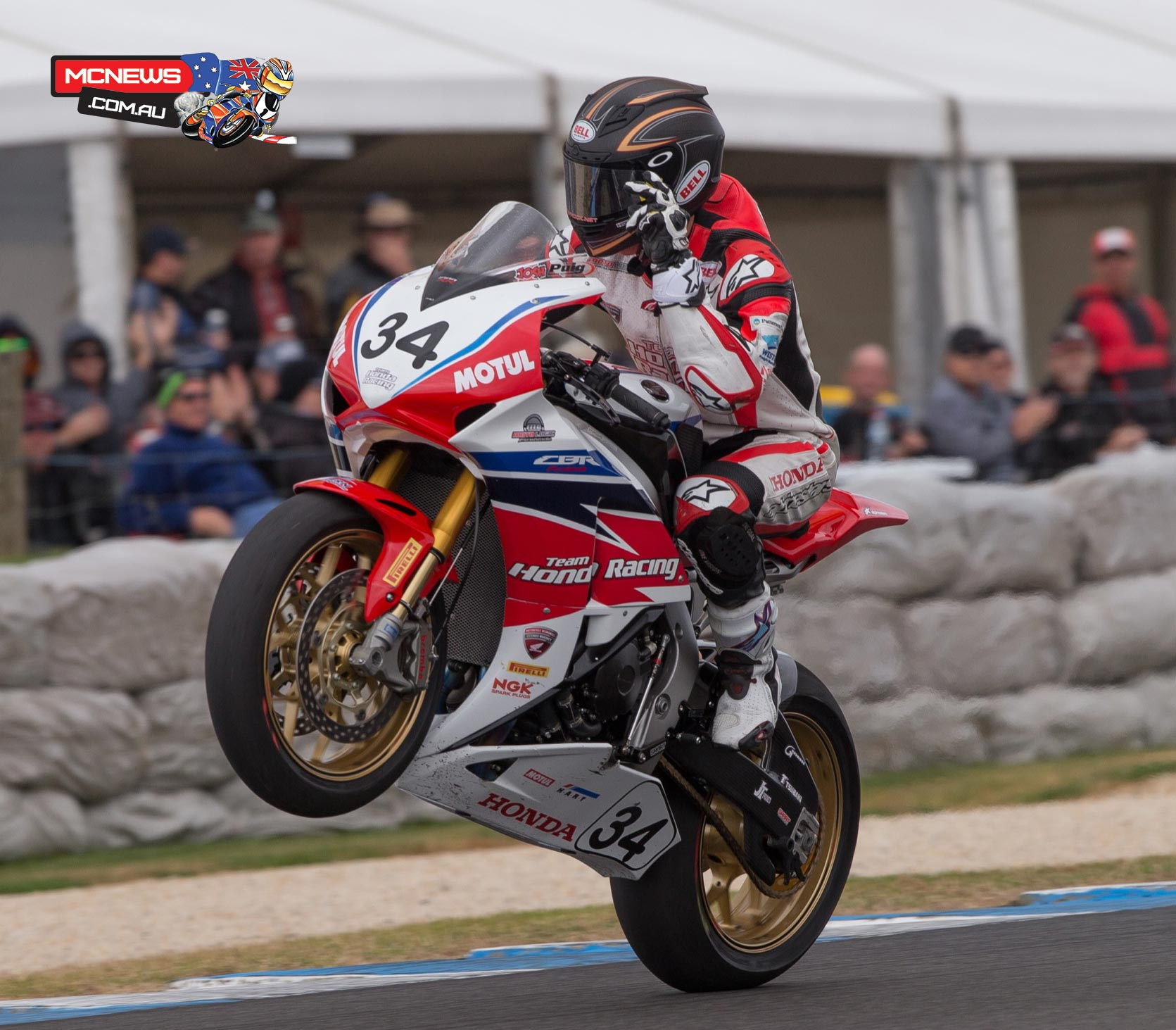 Team Honda's Josh Hook celebrated his maiden Superbike win at Phillip Island earlier this year then wrapped up a perfect weekend at MotoGP to take out the inaugural Phillip Island Championship