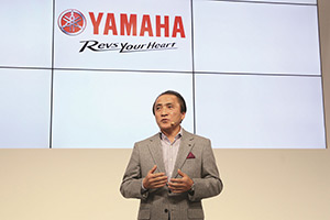 "President Yanagi gave a presentation on ""The growing world of personal mobility"" at the Tokyo Motor Show"